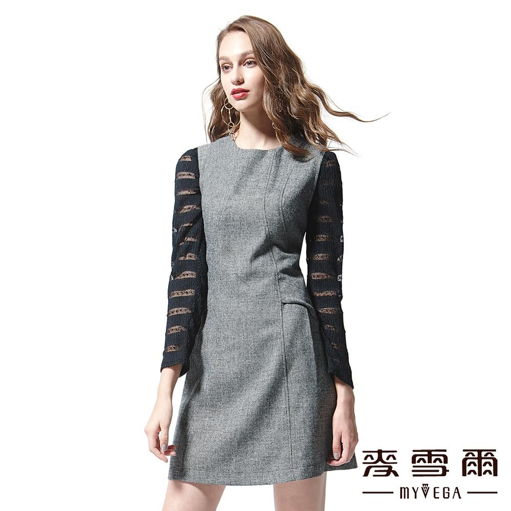 【麥雪爾】圓領素面羊毛背心洋裝