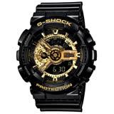 CASIO G-SHOCK 黑金運動腕錶 GA-110GB-1A