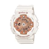 BABY-G 運動時尚腕錶 玫瑰粉x白 BA-110-7A1