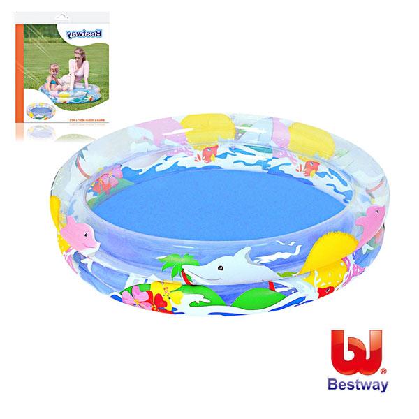 《購犀利》Bestway。兒童透明海洋生活充氣水池