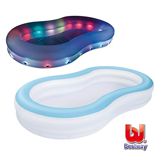 《購犀利》Bestway。變色彩燈家庭充氣戲水/泳池 54135