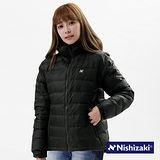 【西崎】中性款防潑水禦寒保暖羽絲絨外套(黑M-XL)