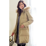 日本ANNA LUNA 預購-可拆絨毛質感拉鏈連帽羽絨外套(共四色/M-3L)