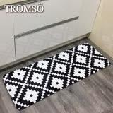 TROMSO簡單生活超柔軟舒適特長地墊-M225黑白圖騰