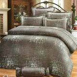 Carolan都會生活 雙人五件式精梳棉兩用被床罩組