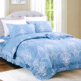 Carolan皇者風範 雙人五件式精梳棉兩用被床罩組