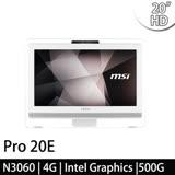 msi微星 Pro 20E 4BW-079TW 20吋 N3060 WIN10 液晶電腦