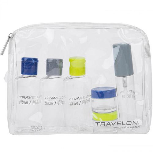 《TRAVELON》三色旅行分裝瓶罐組(6入)