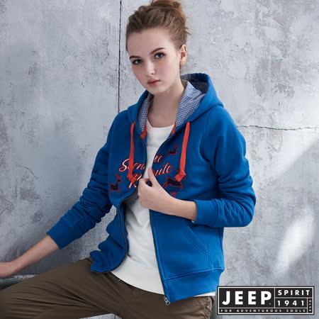 【JEEP】 探險麋鹿貼布帽TEE外套