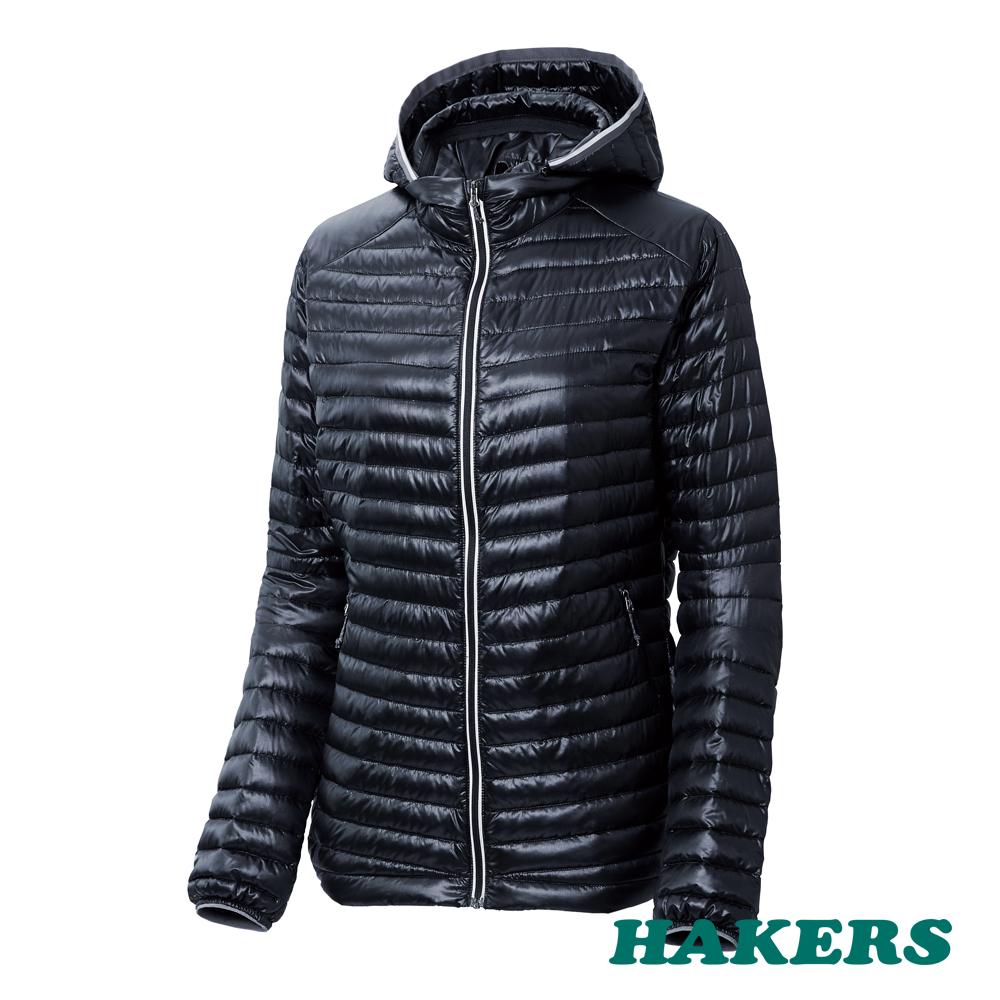 【HAKERS哈克士】女款 Dynamic Warm輕量羽絨外套(黑色)