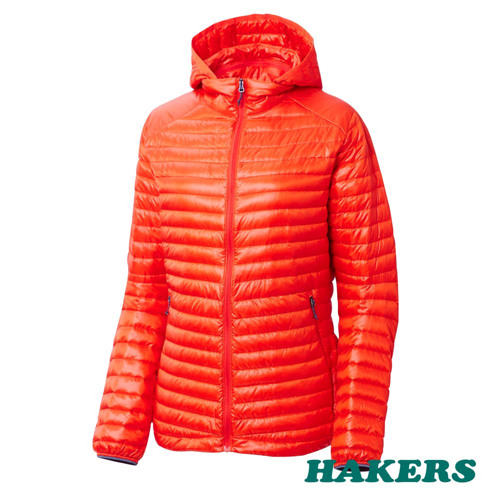 【HAKERS哈克士】女款 Dynamic Warm輕量羽絨外套(桔色)