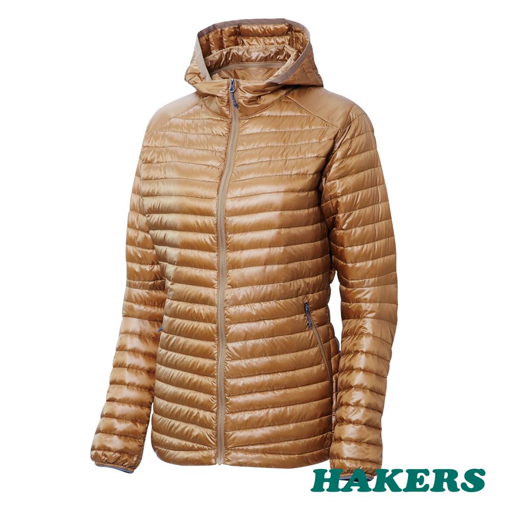 【HAKERS哈克士】女款 Dynamic Warm輕量羽絨外套(木褐色)