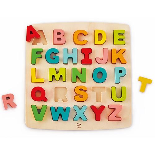 德國Hape愛傑卡-ABC大寫立體木拼圖(新版)