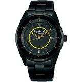 agnes b. 法國光輝太陽能腕錶(IP黑/38mm)BUA003P1/V145-0CJ0SD