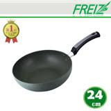 【FREIZ】日本進口耐磨陶瓷平底鍋-24CM