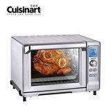 買再送【Cuisinart美膳雅】微電腦不鏽鋼旋風式22L大烤箱 TOB-200TW (贈:餐墊組)