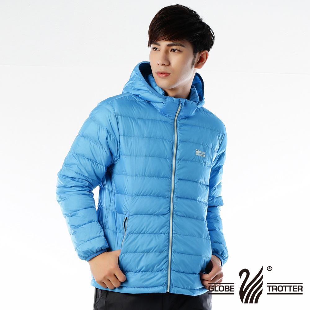 【遊遍天下】男款JIS90%羽絨防風防潑水輕暖羽絨外套G0313藍色