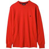 【 Ralph Lauren 】男士居家圓領細格長袖上衣-紅色
