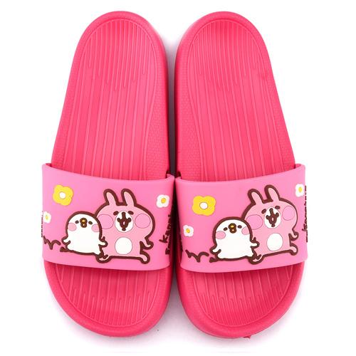 童童鞋城堡-卡娜赫拉 女款 P助超輕量室內外拖鞋KI0536-桃