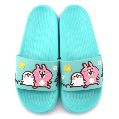 童童鞋城堡-卡娜赫拉 女款 P助超輕量室內外拖鞋KI0536-綠