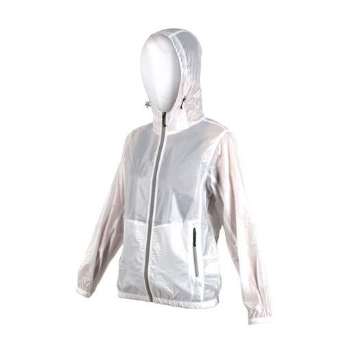(女) SOFO 抗UV果凍外套-可收納 連帽 慢跑 路跑 白灰