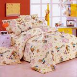 【小小愛樂園】雙人四件式二用被床包組