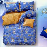 【隱約花開】加大全舖棉四件式二用被床包組