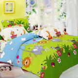【森林王國】雙人全舖棉四件式二用被床包組