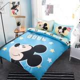 【米奇】迪士尼卡通床包兩用被套組-單人