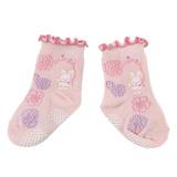 【愛的世界】LOVEWORLD 小兔花園止滑透氣襪(粉紅色)-台灣製-