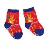 【愛的世界】LOVEWORLD 森林裡的畫家止滑透氣襪(紅色)-台灣製-