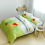 【小熊維尼】迪士尼卡通床包兩用被套組-單人