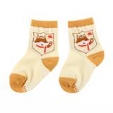 【愛的世界】LOVEWORLD 動物大集合短襪(淺橘色)-台灣製-