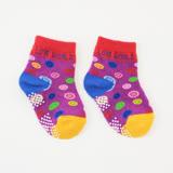 【愛的世界】LOVEWORLD 快樂農場短襪(紫色)-台灣製-