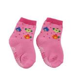 【愛的世界】LOVEWORLD 快樂農場毛巾襪(玫紅色)-台灣製-