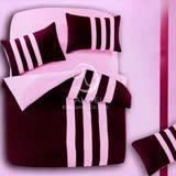 【時尚運動風】雙人四件式被套床包組(紫)