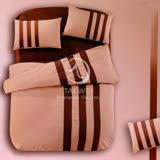 【時尚運動風】雙人四件式被套床包組(咖)