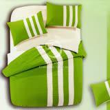 【時尚運動風】雙人四件式被套床包組(綠)
