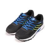 (男) GIOVANNI VALENTINO 運動鞋 黑藍 男鞋 鞋全家福