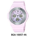 CASIO卡西歐 Baby-G 漸層色彩星空休閒錶-粉紅/BGA-100ST-4A