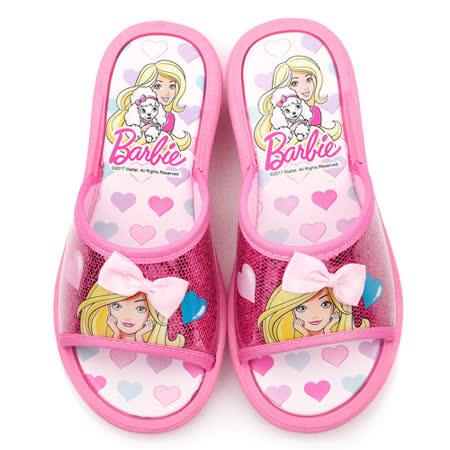 童鞋城堡-Barbie芭比 中大童 亮片戶外拖鞋BR2403-粉