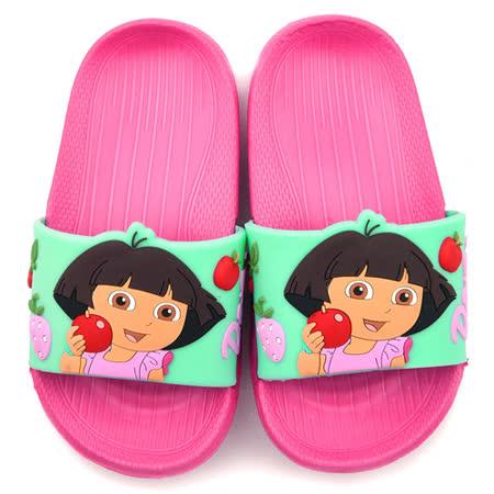 童鞋城堡-朵拉 中童 超輕量蘋果造型拖鞋DR2936-粉