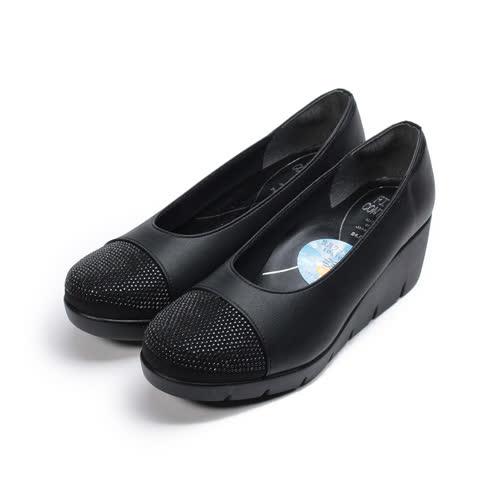(女) FIRST CONTACT 亮鑽楔形鞋 黑 女鞋 鞋全家福