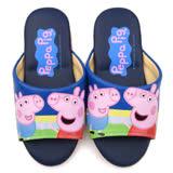 童鞋城堡-粉紅豬小妹 中大童 室內拖鞋PG0050-藍