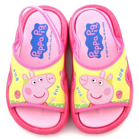 童鞋城堡-粉紅豬小妹 佩佩豬 中童 清新款戶外拖鞋PG0056-粉