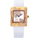 【Ogival瑞士愛其華】花漾馨語珠寶腕錶-玫瑰金 380-36DLR