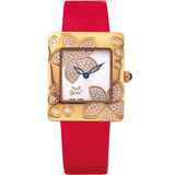 【Ogival瑞士愛其華】花漾馨語珠寶腕錶-玫瑰紅 380-36DLR