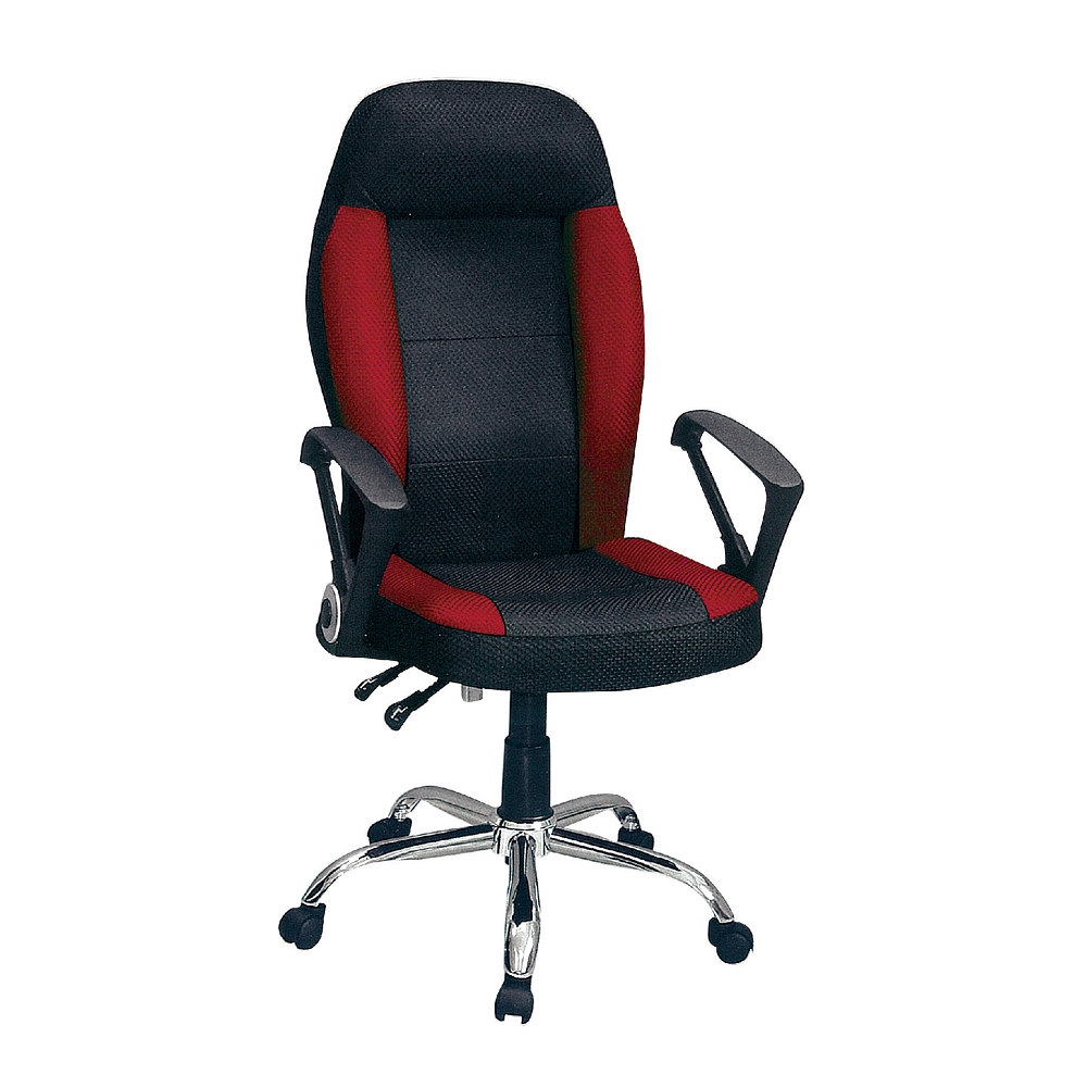 【ABOSS】Shan汽車座辦公椅(黑紅)