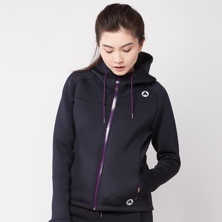 【美國 AIRWALK】太空棉連帽外套-女(黑色) -friDay購物