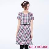 RED HOUSE-蕾赫斯-毛料編織格子洋裝(粉色)